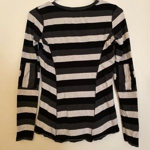 CALVIN KLEIN striped long sleeved performance top